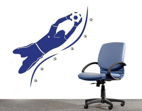 Goalkeeper-Wall Decal Hangers-Style and Apply