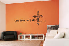 God Does Not Judge-Wall Decals-Style and Apply