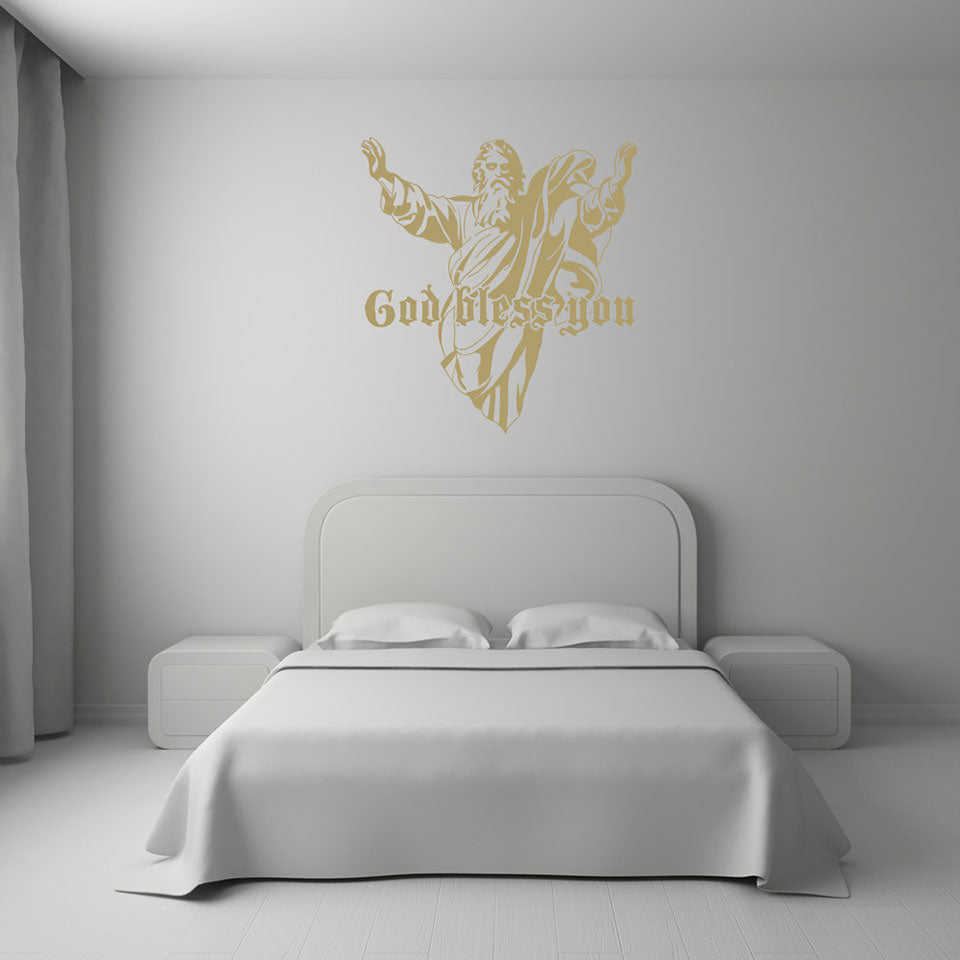 God bless you-Wall Decal