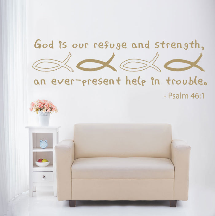 God is our Refuge Wall Decal