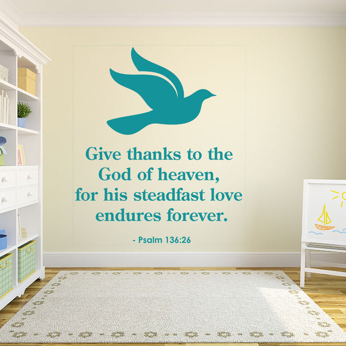 God of Heaven Wall Decal