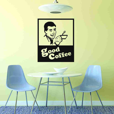 Good Coffee Sign Wall Decal-Wall Decals-Style and Apply