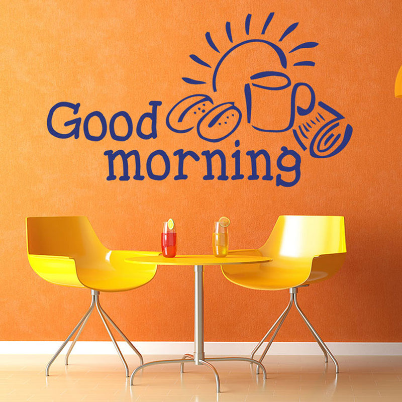 Good Morning Wall Decal Style And Apply