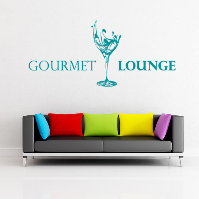 Gourmet Lounge Wall Decal