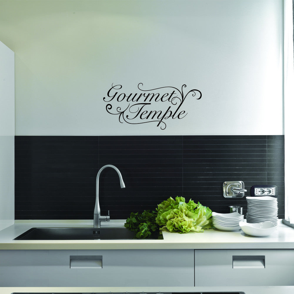 Gourmet Temple Wall Decal-Wall Decals-Style and Apply