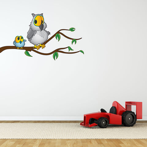Grandpa Owl II-Wall Decal Stickers-Style and Apply