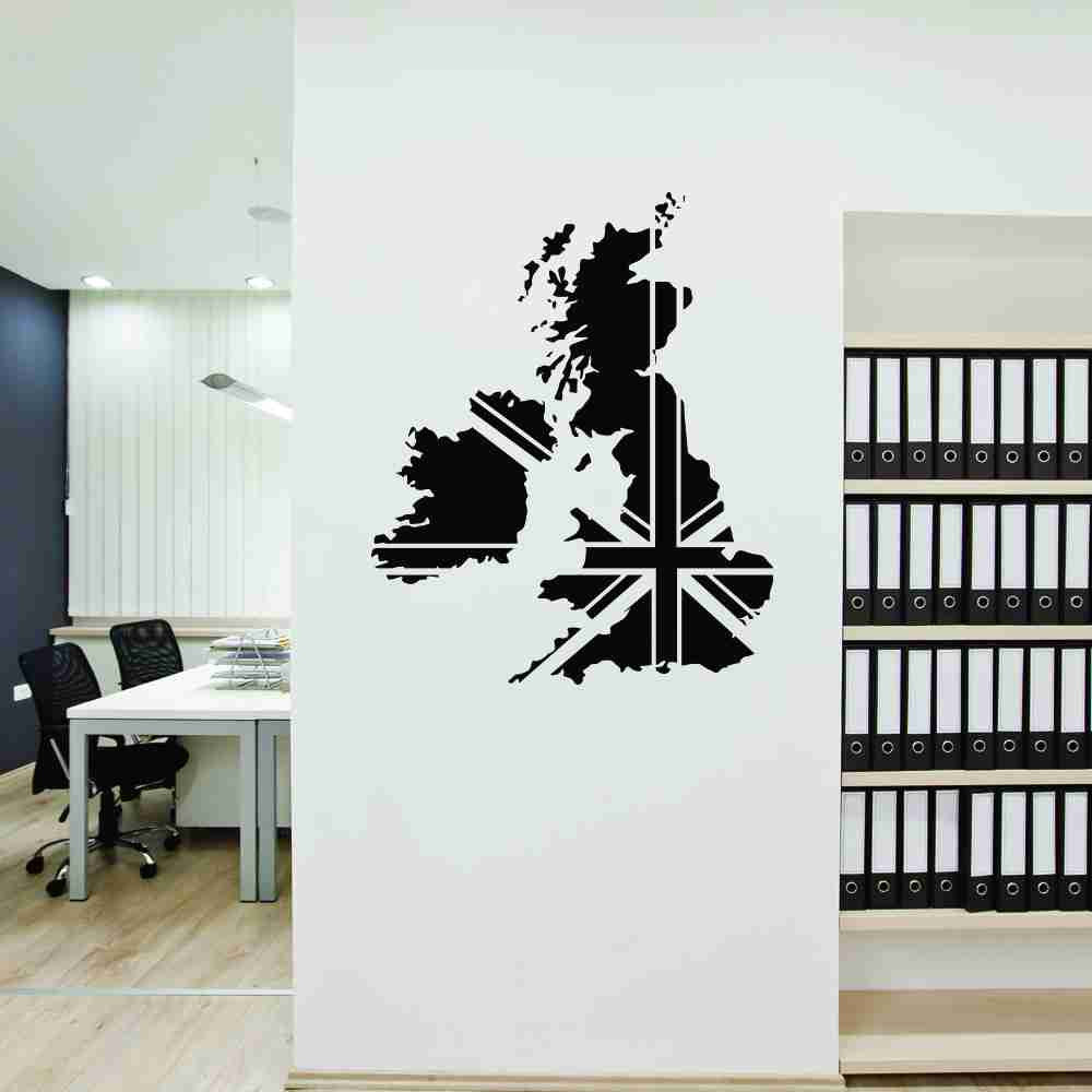 Great Britain Map Wall Decal-Wall Decals-Style and Apply