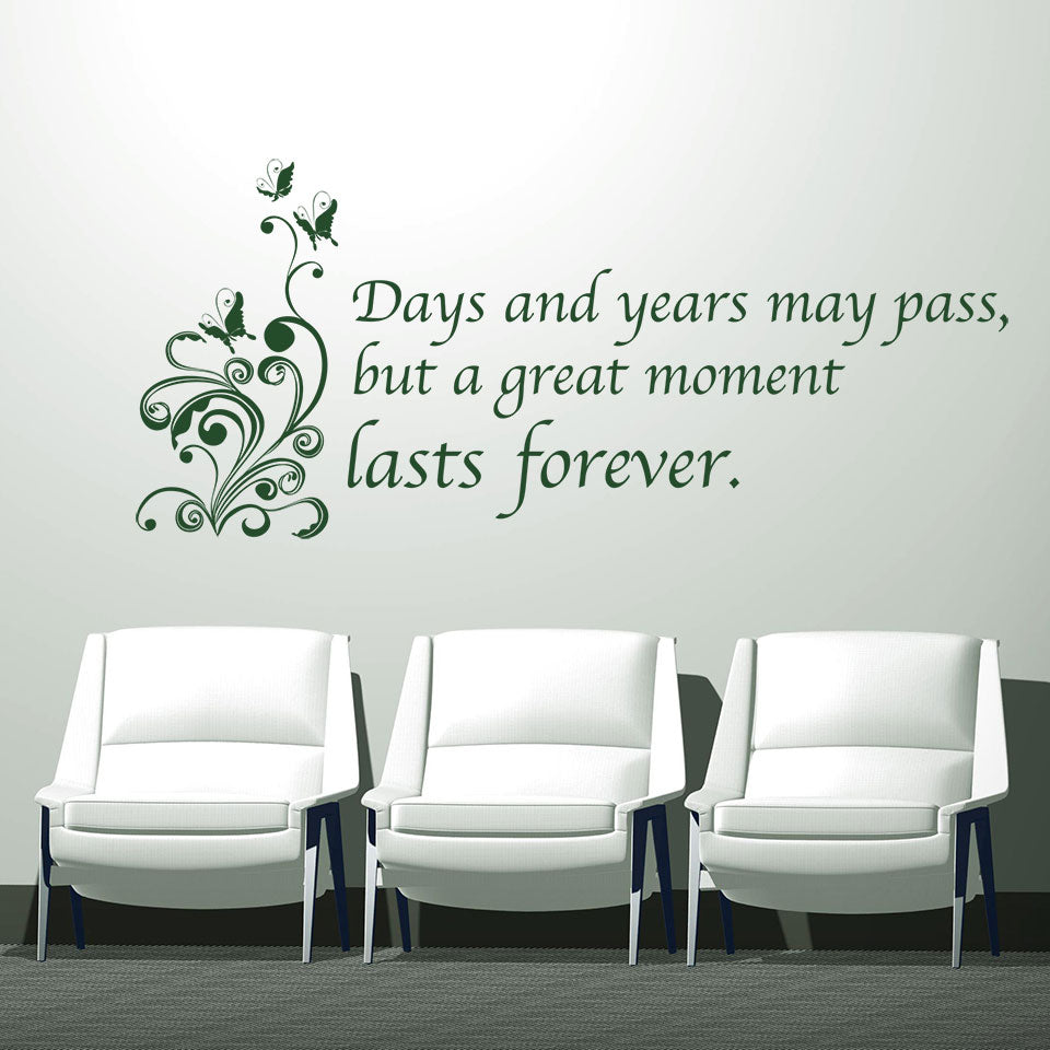 great moments wall decal quote