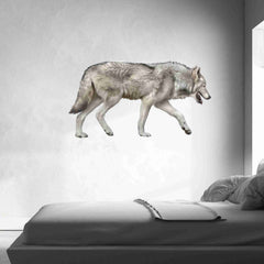 Grey Wolf Wall Stickers-Wall Stickers-Style and Apply