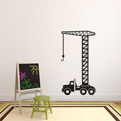 Growing Crane Decal-Wall Decals-Style and Apply