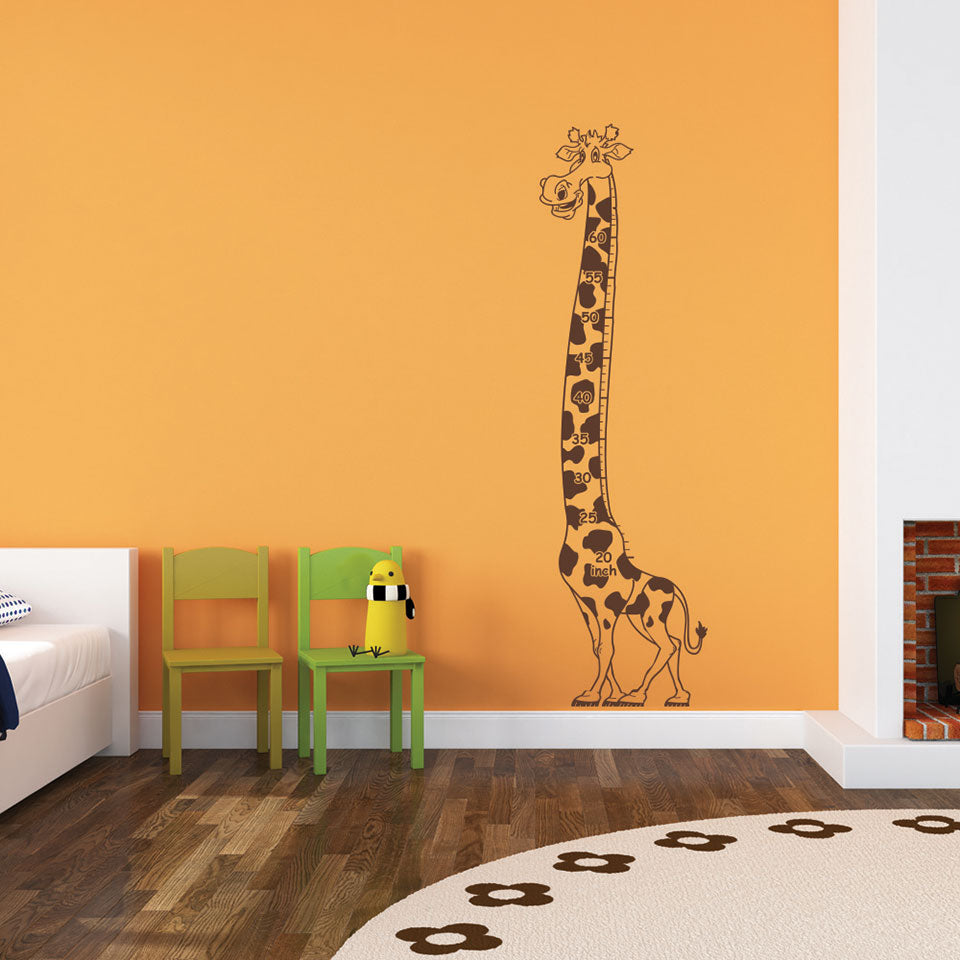 Growing Giraffe Wall Decals Style And Apply