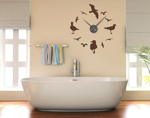 Gulls Clock Decal-Wall Decal Clocks-Style and Apply