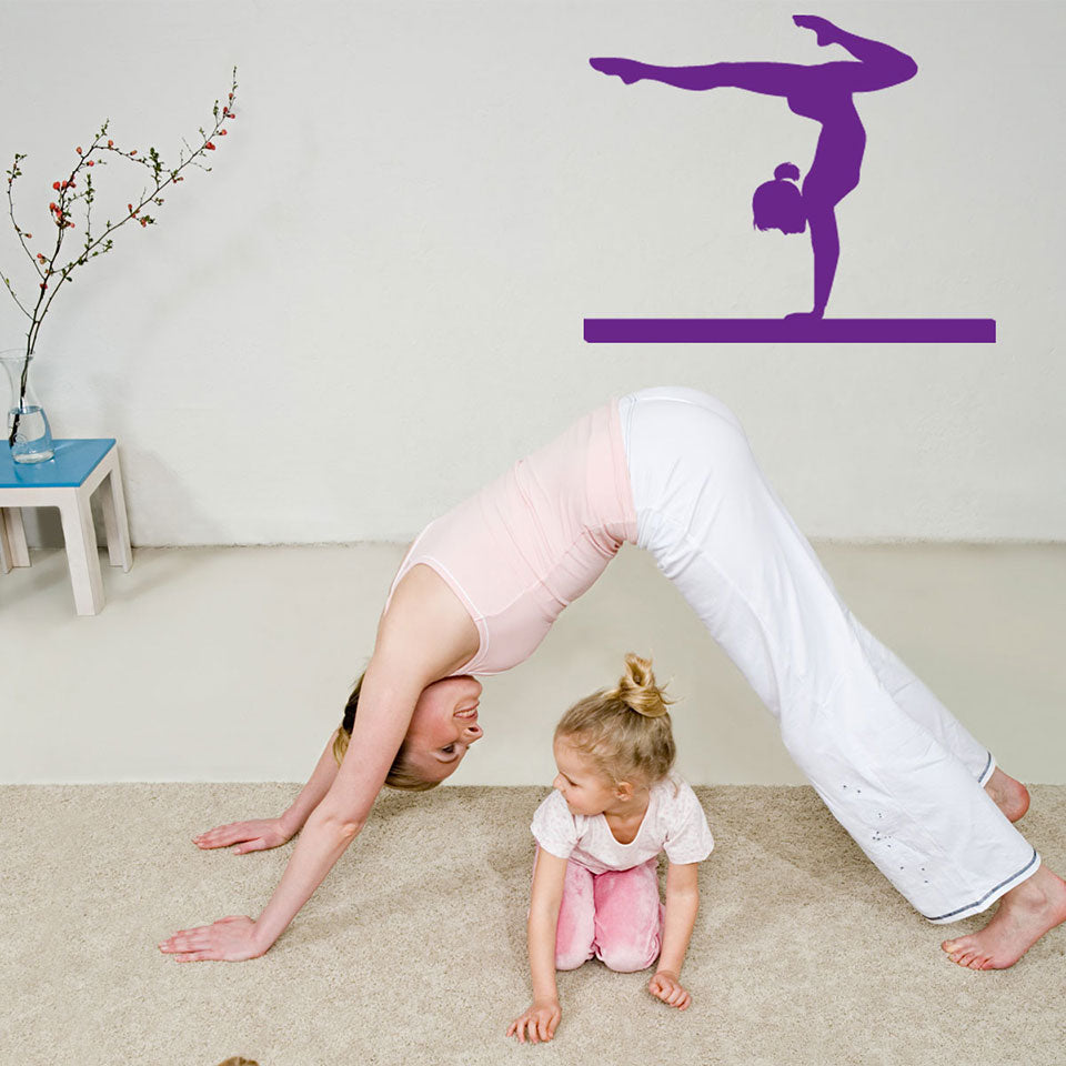 Practice Gymnastics Wall Decal