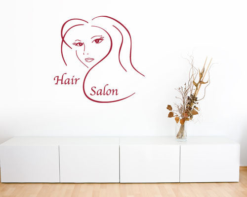 Hair Salon Decal-Wall Decals-Style and Apply