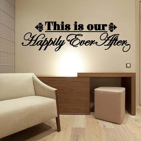 Happily ever after wall decal