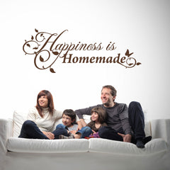 Happiness is Homemade Quote-Wall Decal