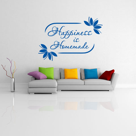 Happiness is Homemade Wall Decal quote