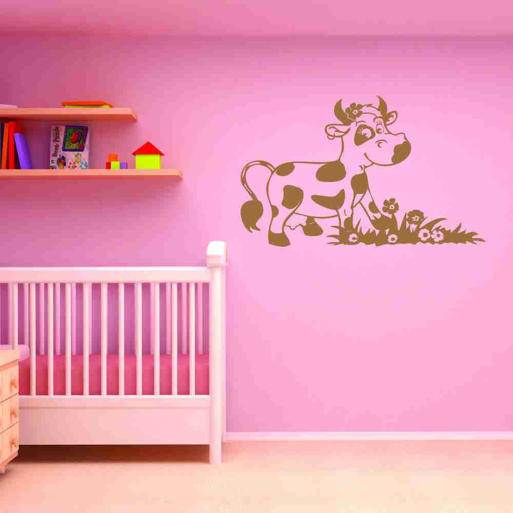 Happy Cow Wall Decal-Wall Decals-Style and Apply