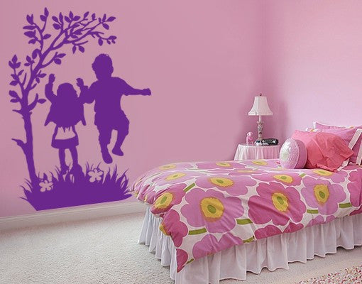 Happy kids-Wall Decals-Style and Apply