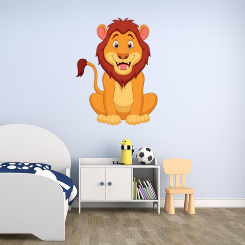Happy Lion Wall Decal Sticker