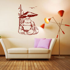 Happy Buddha-Wall Decal