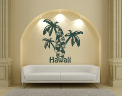Hawaii-Palms-Wall Decals-Style and Apply