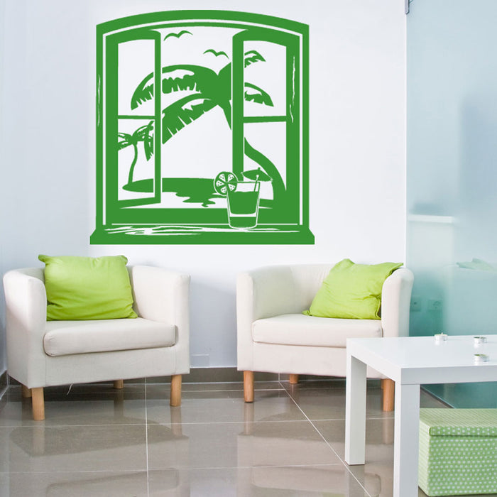 Hawaii View Wall Decal