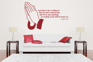 He Hears Us wall quote-Wall Decals-Style and Apply