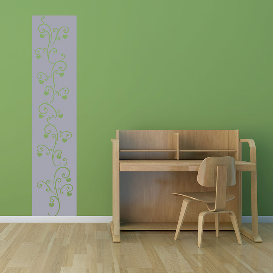 Heart Twine-Wall Decal strip