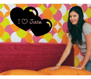 Hearts-Blackboard and Whiteboard Wall Decals-Style and Apply