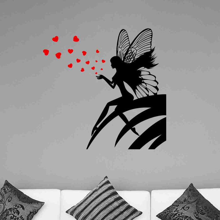 Hearts Fairy Wall Decals