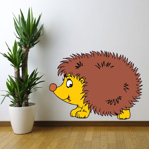 Hedgehog-Wall Decal Stickers-Style and Apply