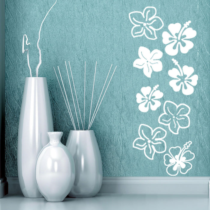 Hibiscus Flowers Wall Decal