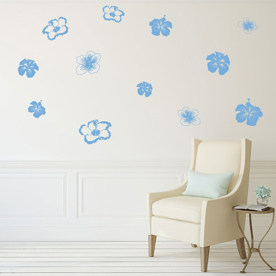 Hibiscus Set Wall Decal  sc 1 st  Style and Apply & Hibiscus Wall Decal Set u2013 Style and Apply