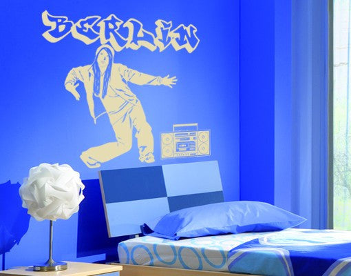 Hip Hop Girl-Wall Decals-Style and Apply