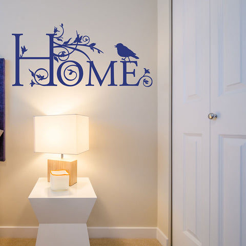 Home Floral Wall Decal