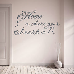 Home is Where Your Heart is Wall Decal quote