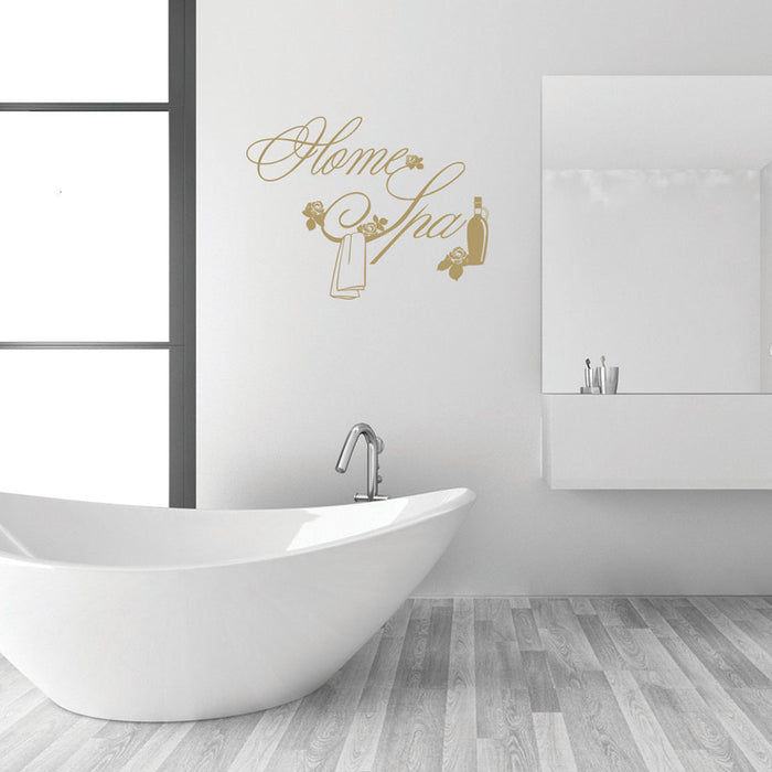 Home Spa Wall Decal