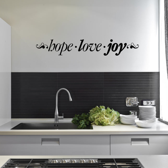 Hope . Love . Joy Wall Decal