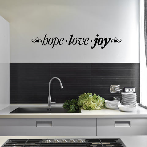 Hope . Love . Joy Wall Decal-Wall Decals-Style and Apply