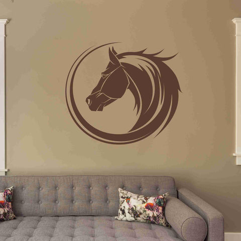Horse Bust Wall Decals