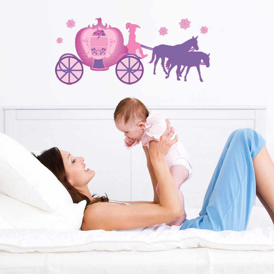 Horse-Drawn Coach Wall Decal-Wall Decal Stickers-Style and Apply