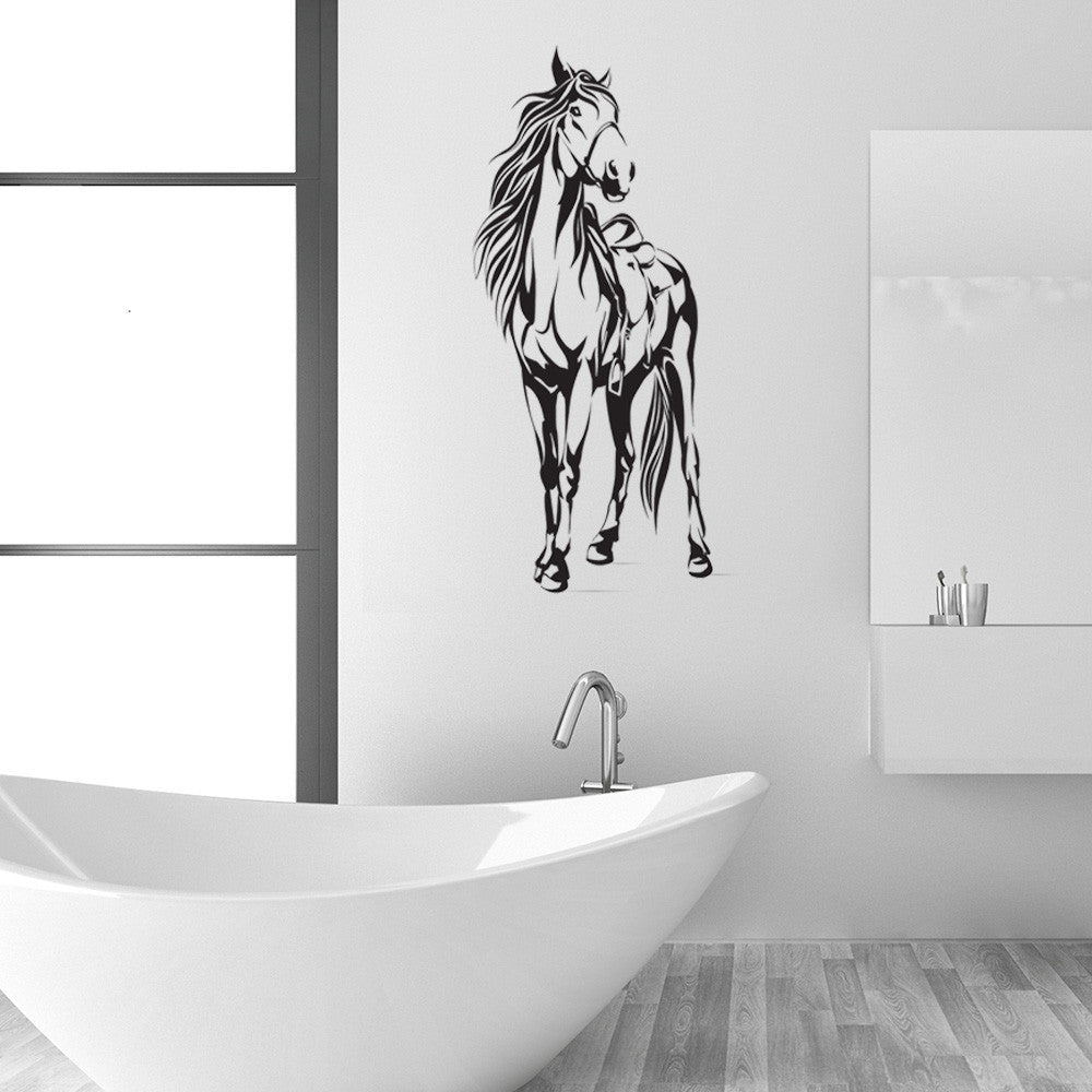 Horse with Saddle Wall Decal Sticker-Wall Decals-Style and Apply