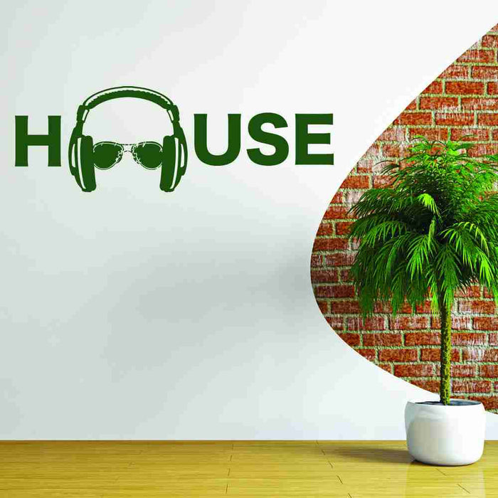 House Music Wall Decal