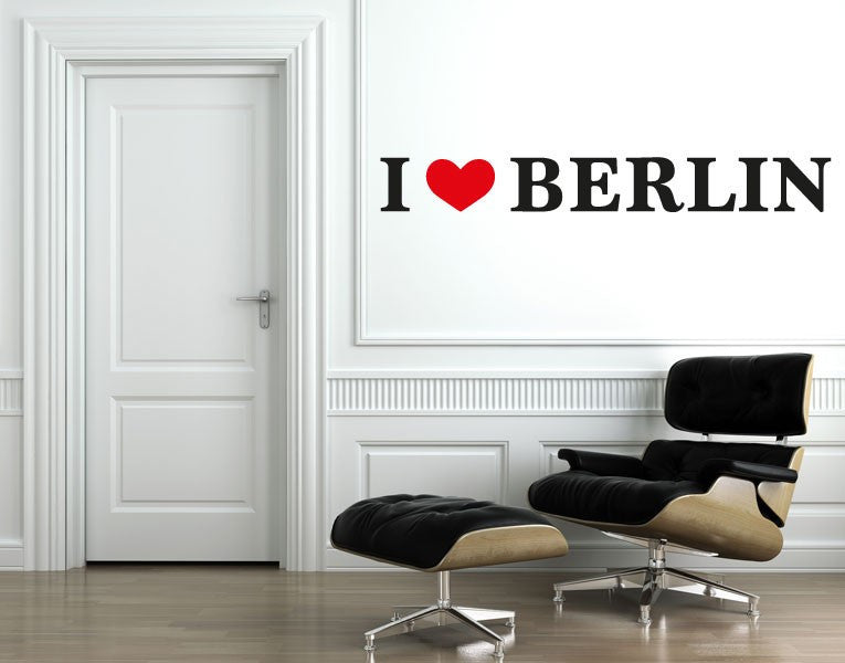 I Love Berlin-Wall Decal Stickers-Style and Apply