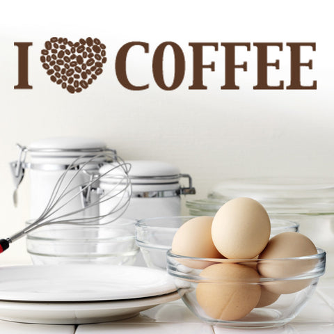 I Love Coffee Wall Decal-Wall Decals-Style and Apply