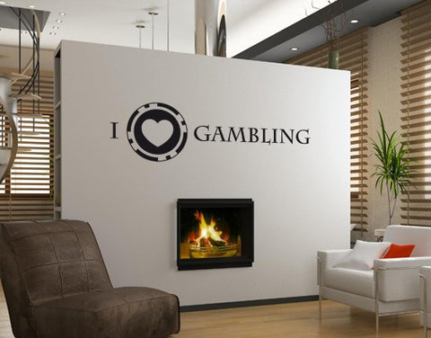 I Love Gambling-Wall Decals-Style and Apply