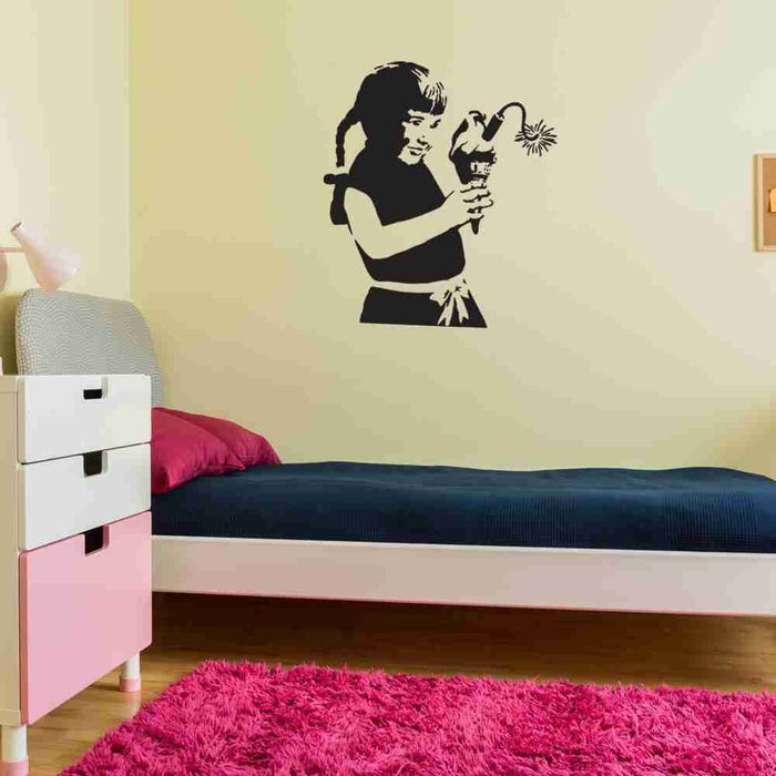 Ice Cream Bomb Banksy Wall Decal