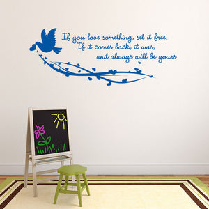Set It Free-Wall Decal quote