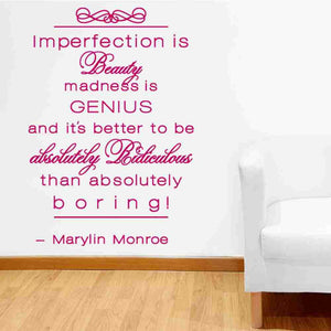 Imperfection is Beauty Wall Decal-Wall Decals-Style and Apply